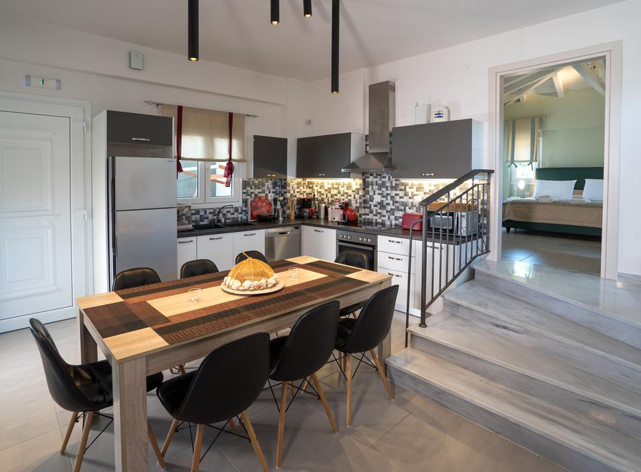 kitchen aelia villa by kardous skopelos greece