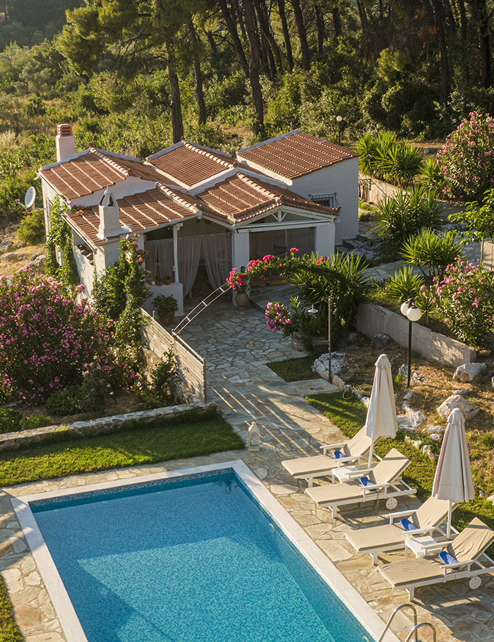 pine trees lux villa with private pool 5 persons skopelos accommodation vacation travel greece