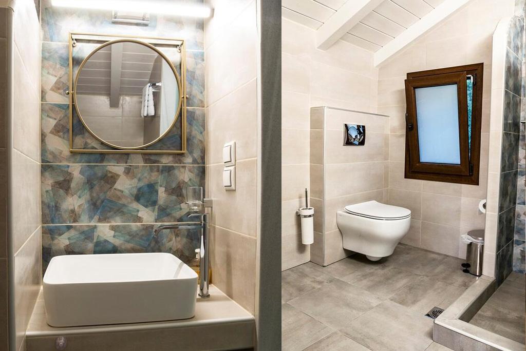 villa amaryllis ground floor first bedroom king size bed private bathroom kardous villas skopelos greece
