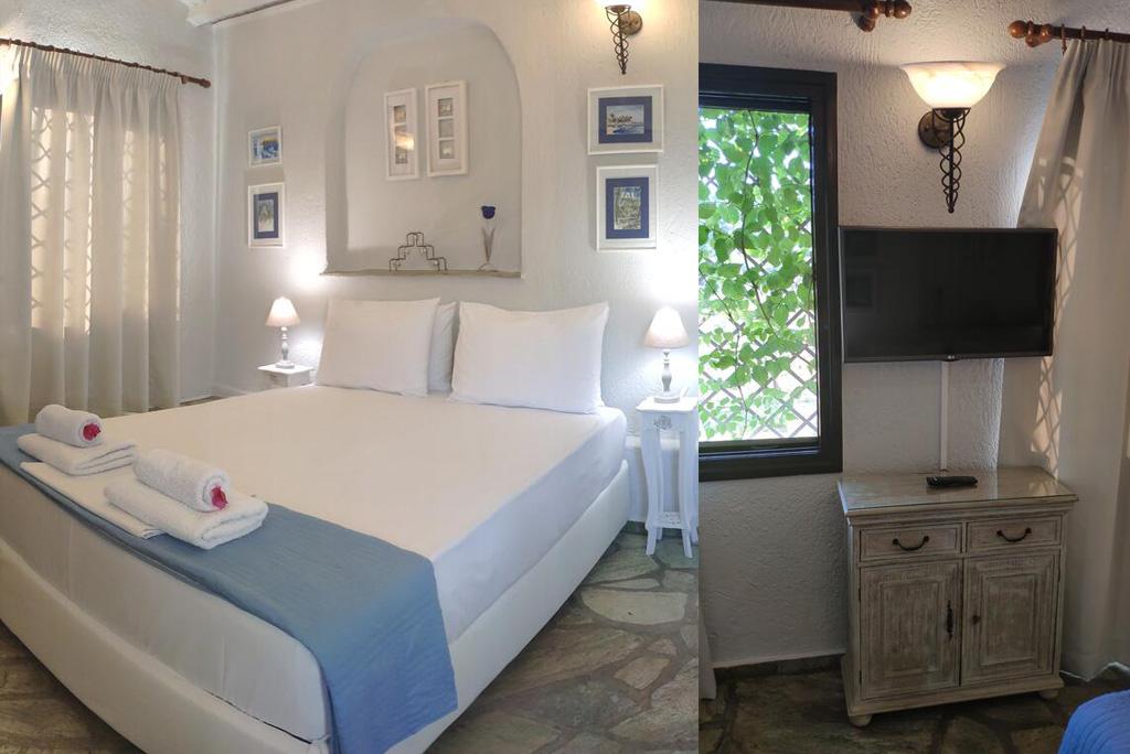 villa pine trees junior bedroom details kardous skopelos travel greece