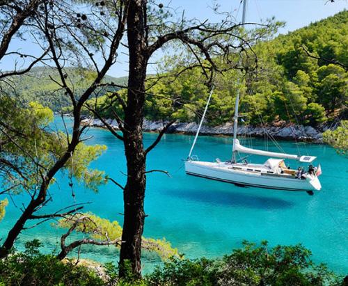 skopelos greece sporades island amarandos beach mamma mia kardous villas lux accommodation